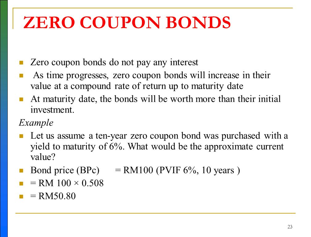 define zero coupon security