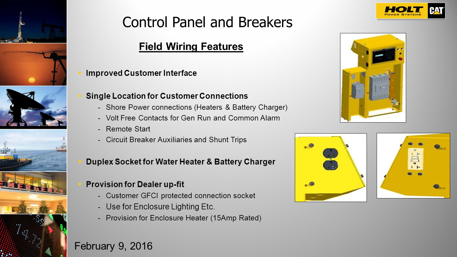 Cat Electric Power Compact Diesel Next Generation Product Launch Duplex Panel This Controller Includes Circuit Breakers And Cat7 Control