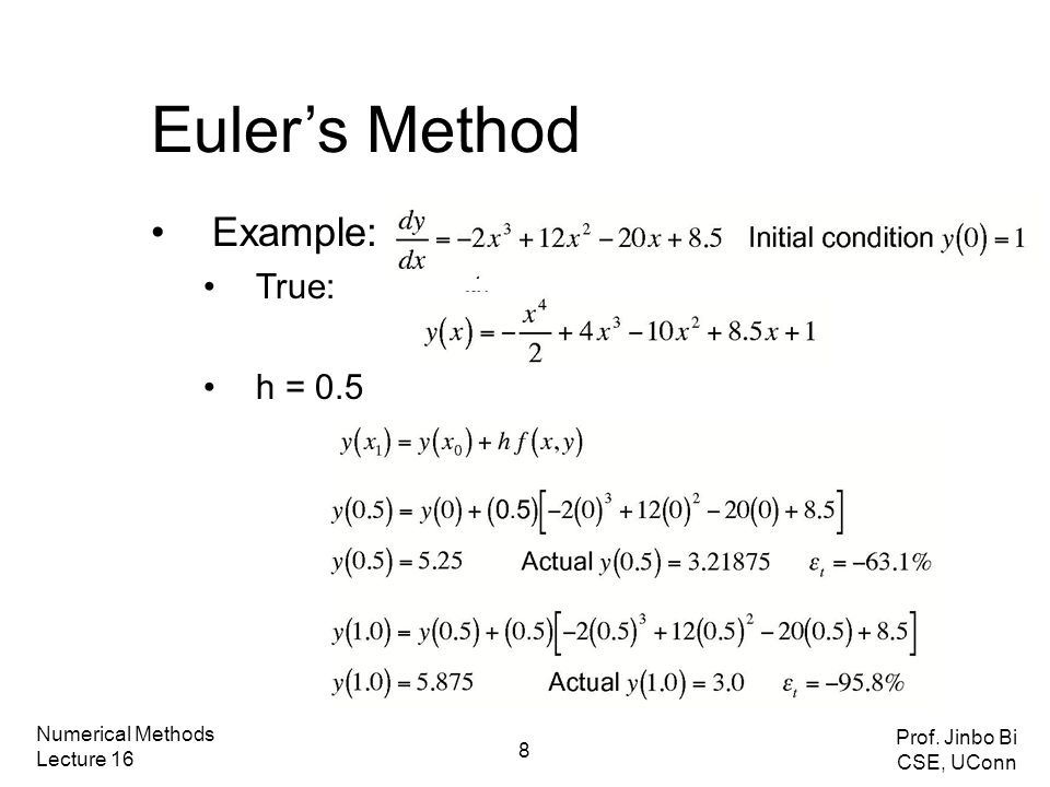 Today's class Ordinary Differential Equations Runge-Kutta