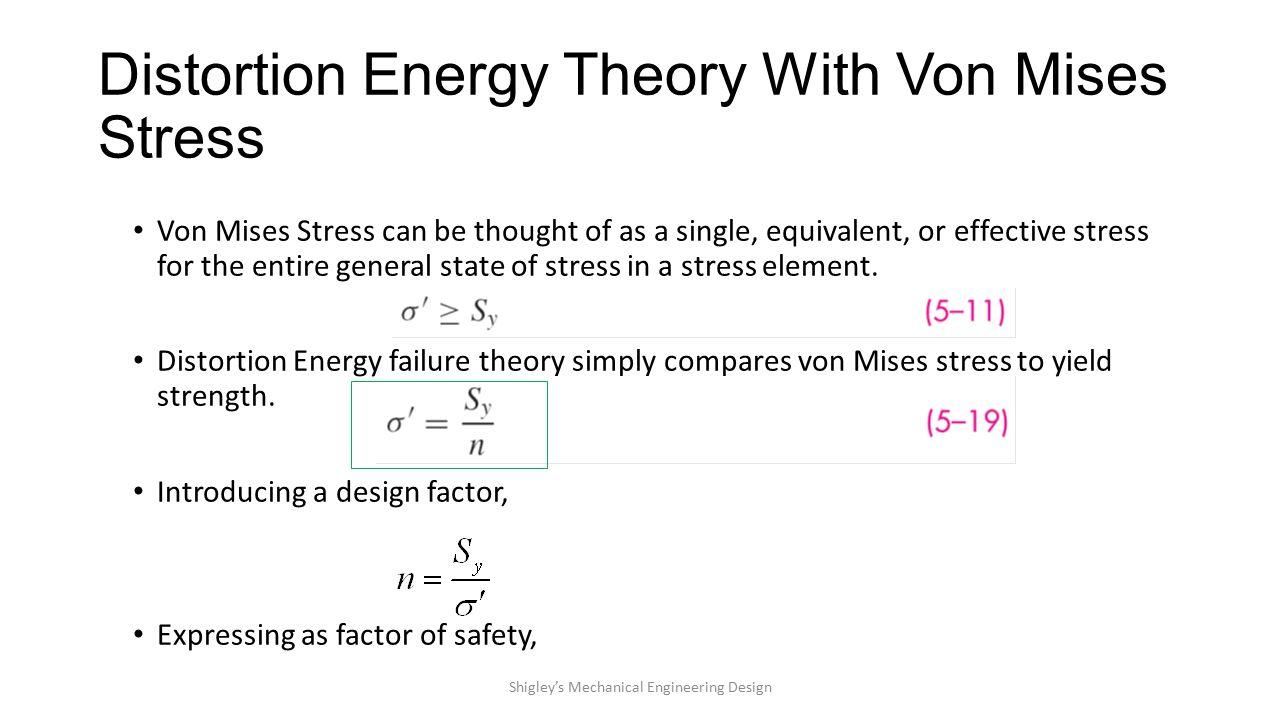 von mises stress equation pdf