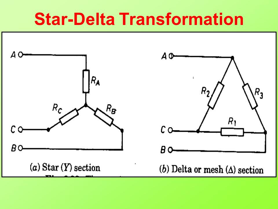 Topics to be Discussed Star-Delta Transformation