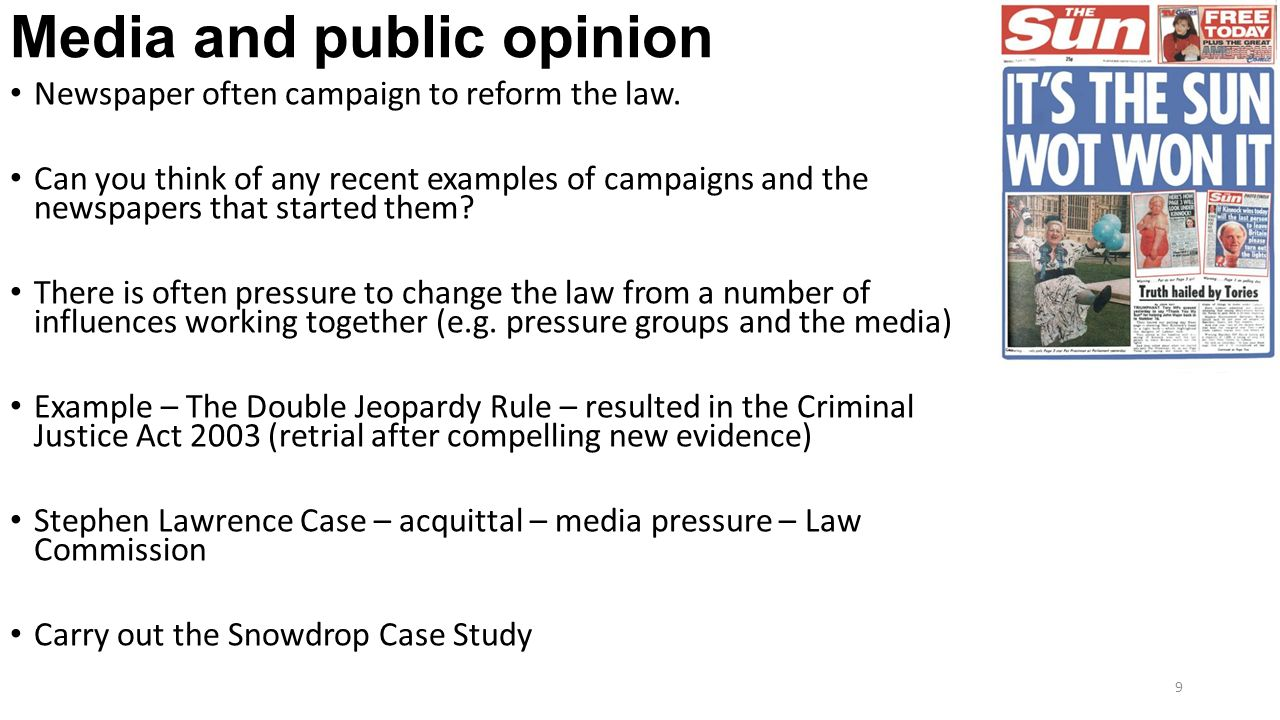 Media influences on public opinion
