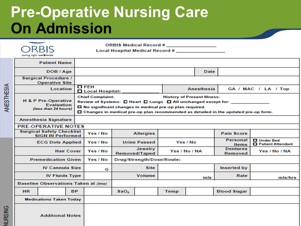 Pre And Post Operative Nursing Care Ppt Video Online Download