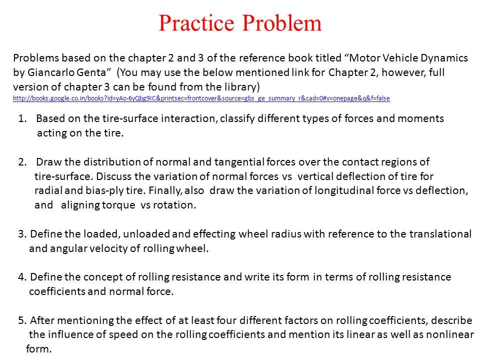Vehicle Dynamics under Longitudinal Forces ME ppt video
