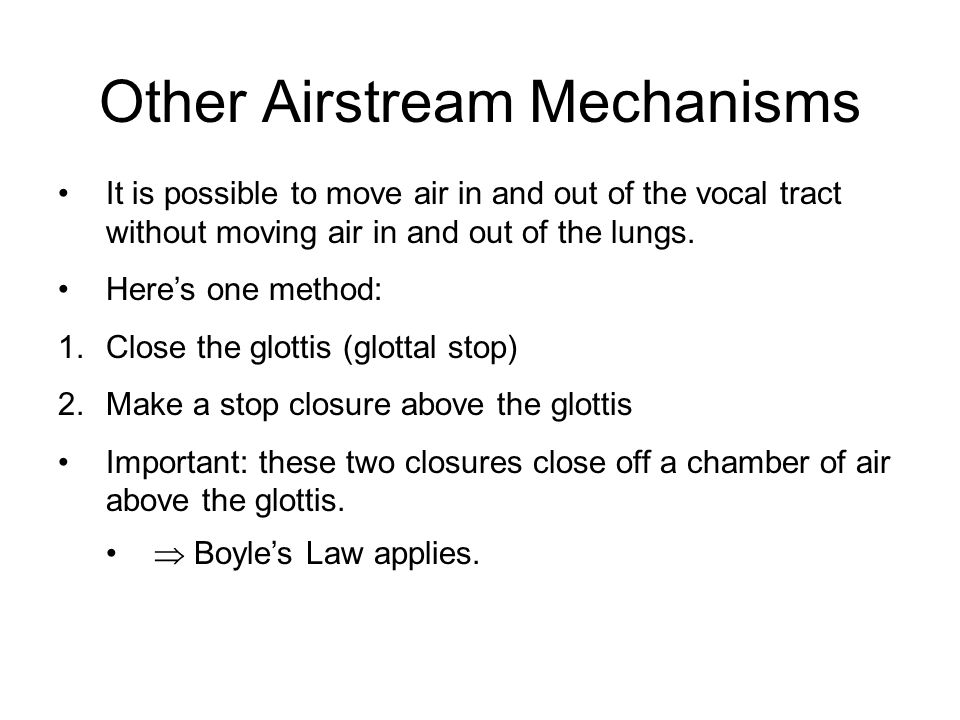 Airstream Mechanisms October 5, ppt download
