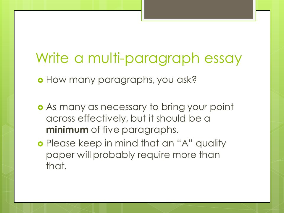 Essay Of Newspaper Write A Multiparagraph Essay Persuasive Essay Examples High School also My School Essay In English Response To Literature Essay Theme Analysis  Ppt Video Online Download Best English Essays