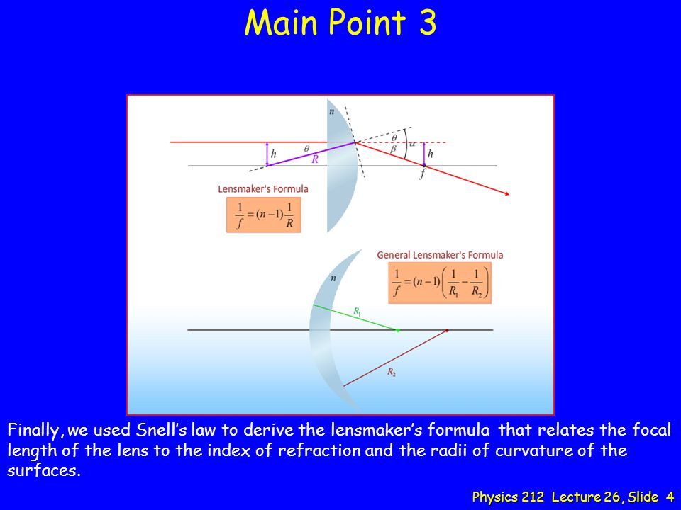 Physics 212 Lecture 26: Lenses  - ppt download