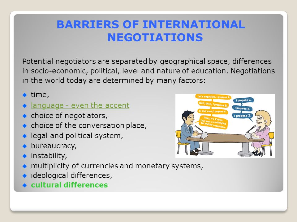 Cultural differences in international trade negotiation