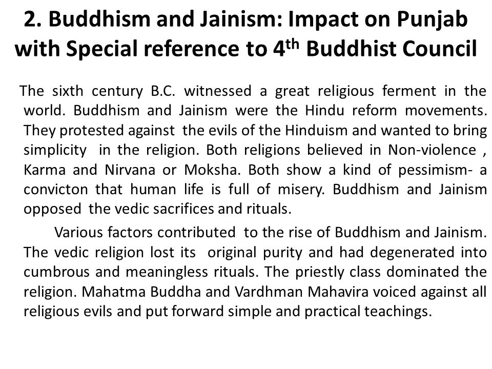 history project on jainism and buddhism