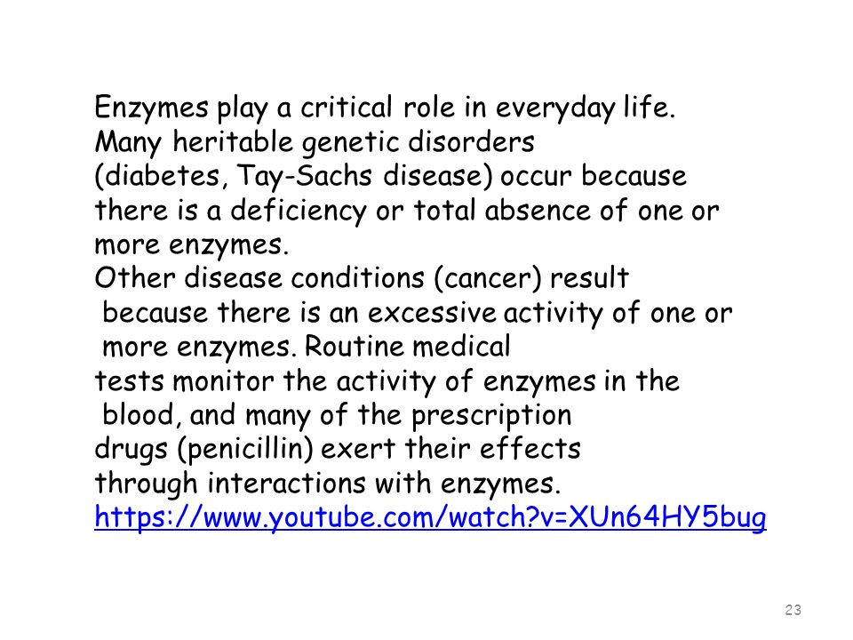 Enzymes play a critical role in everyday life.