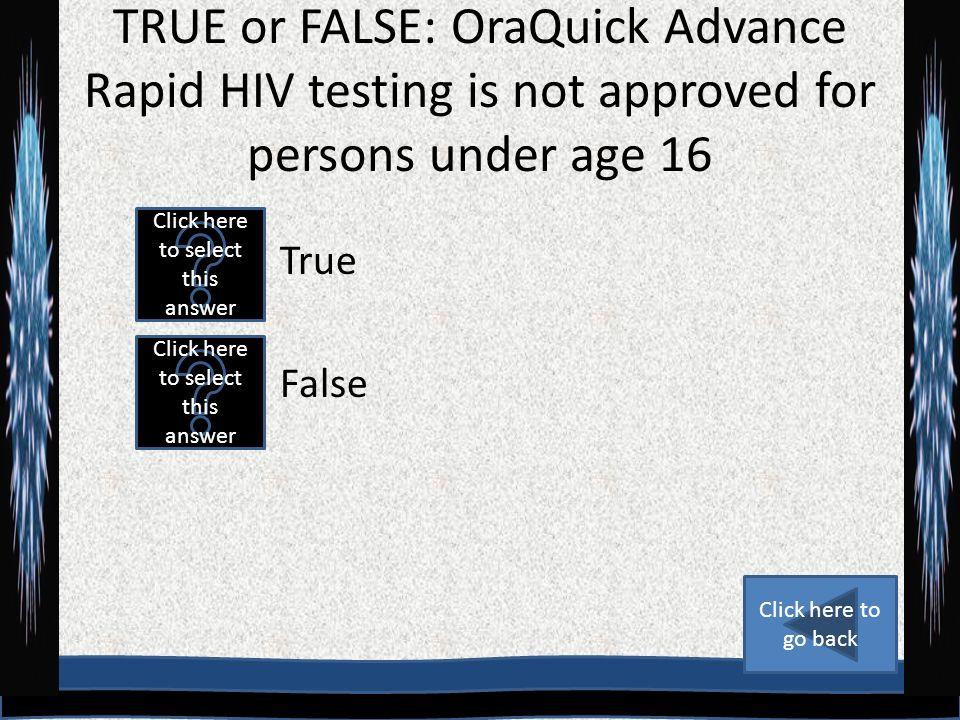 RAPID HIV TESTING OraQuick ADVANCE HIV 1/2 - ppt video