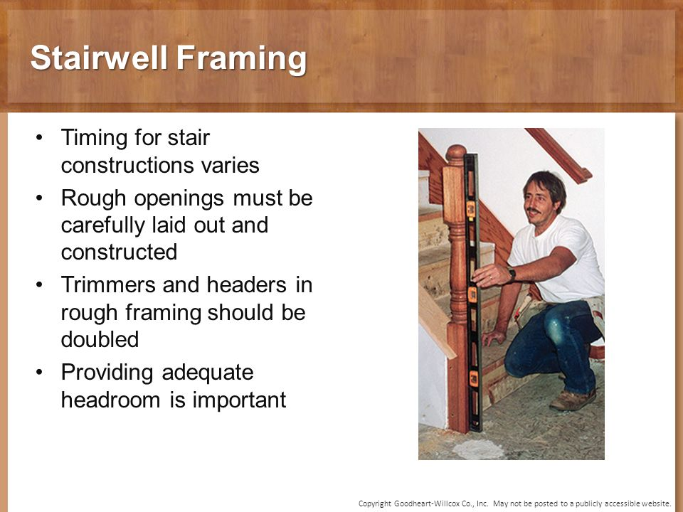 20 Chapter Stair Construction. 20 Chapter Stair Construction. - ppt ...