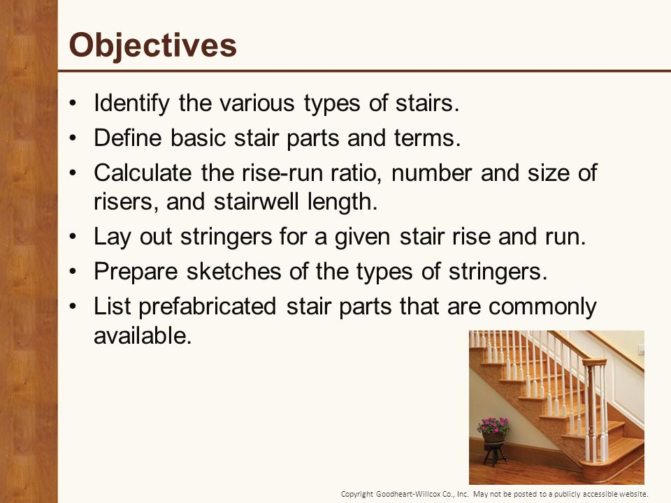 20 Chapter Stair Construction  20 Chapter Stair Construction  - ppt