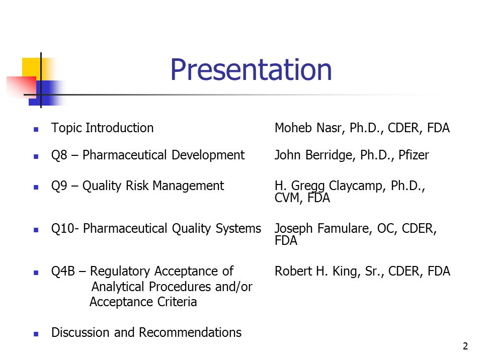 ICH Quality Topics Update - ppt video online download