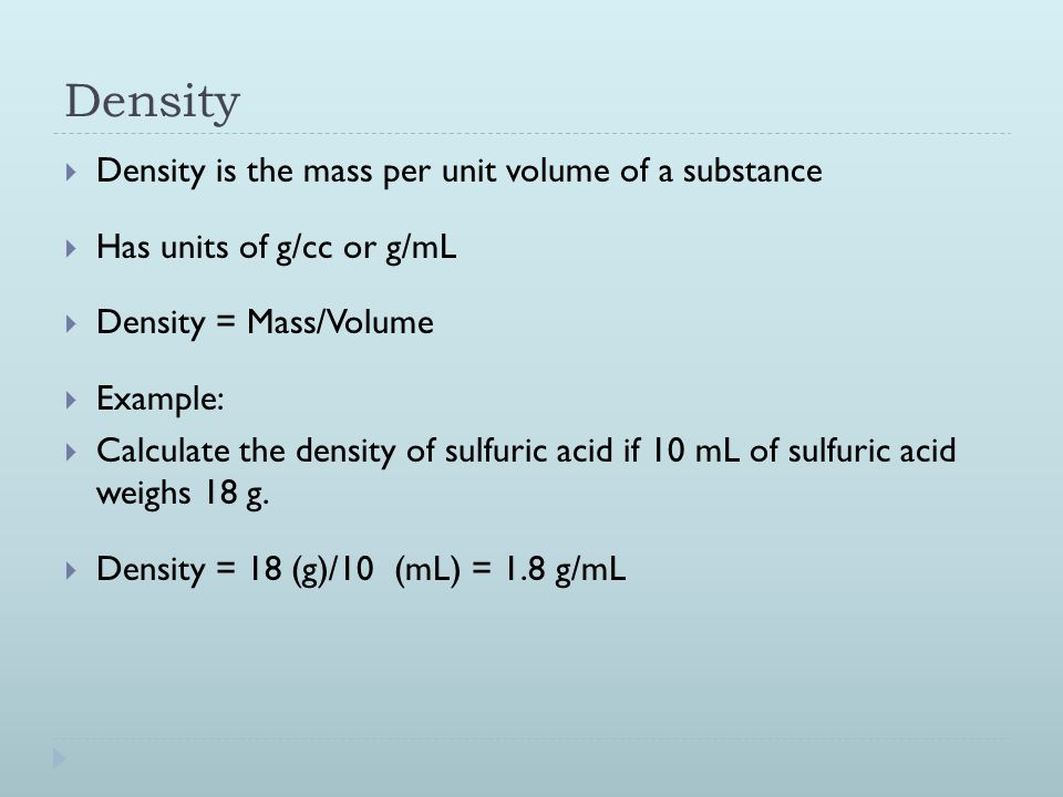 Density, Specific Gravity, and Specific Volume - ppt video