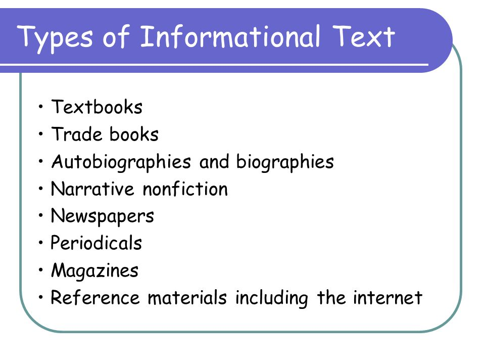 Image result for informational text