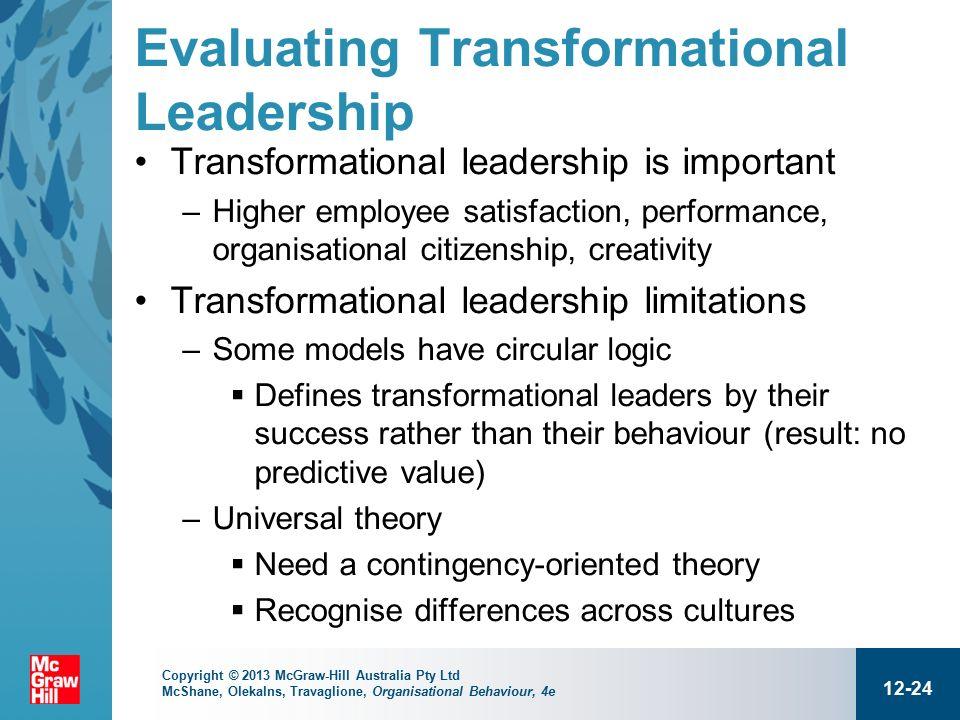 evaluation of transformational leadership