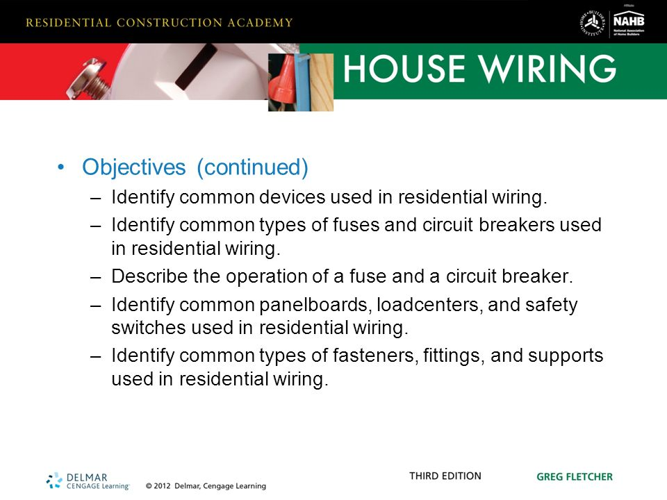 hardware and materials used in residential wiring ppt video online rh slideplayer com New Construction Wiring Residential Wiring For Dummies