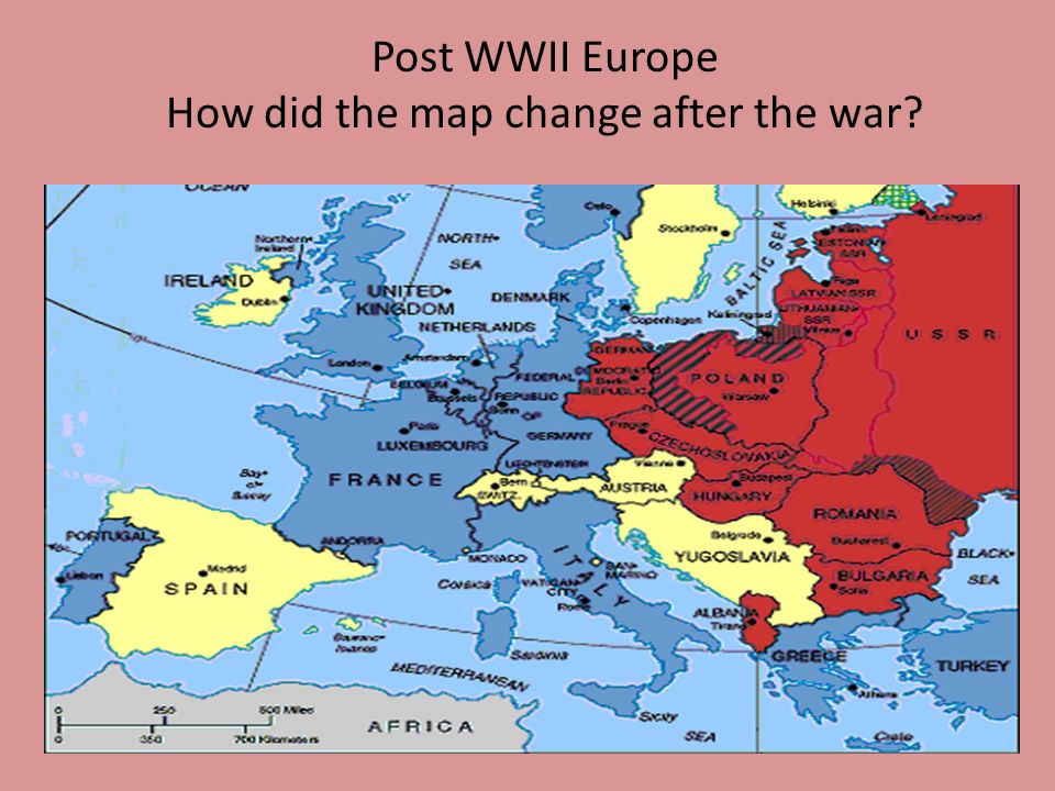 Europe After Ww2 Map - Design Templates