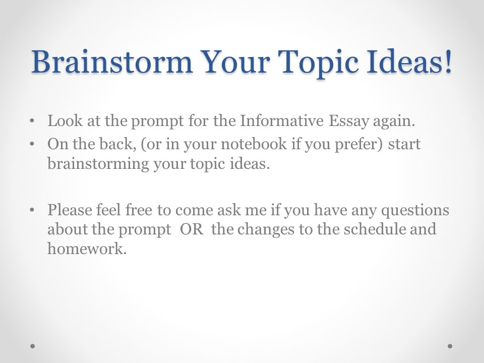 Population Essay In English Brainstorm Your Topic Ideas High School Entrance Essay also Examples Of Persuasive Essays For High School Introducing Essay  And Informative Writing  Ppt Video Online Download Term Papers And Essays