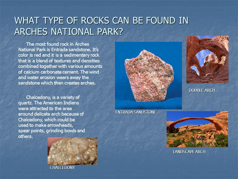Minerals in arches national park