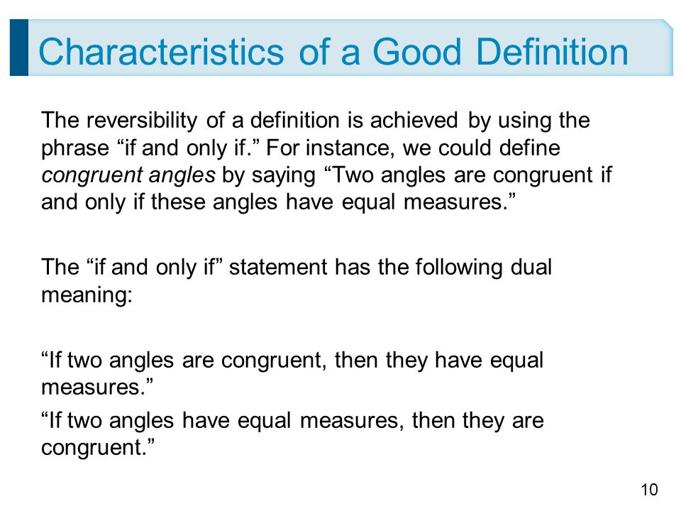 what is a good definition