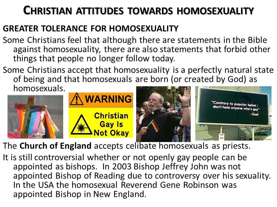 Different christian beliefs on homosexuality in christianity