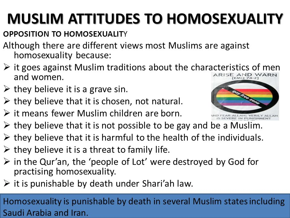Why homosexuality is wrong in islam