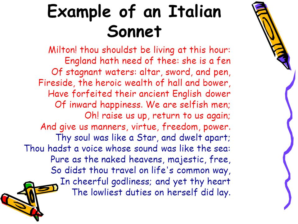 Sonnets English And Italian Ppt Video Online Download