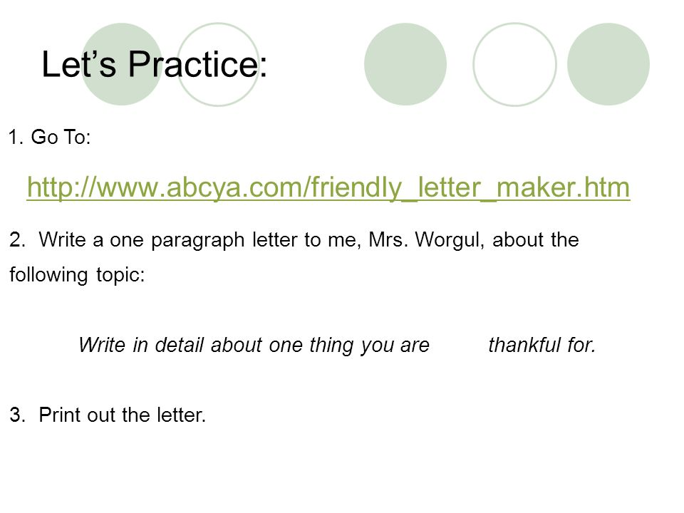 Write A Letter | levelings