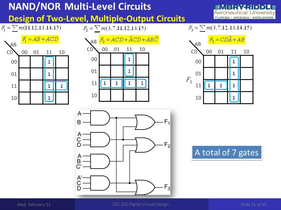 Digital Circuit Design - Wiring Diagrams •