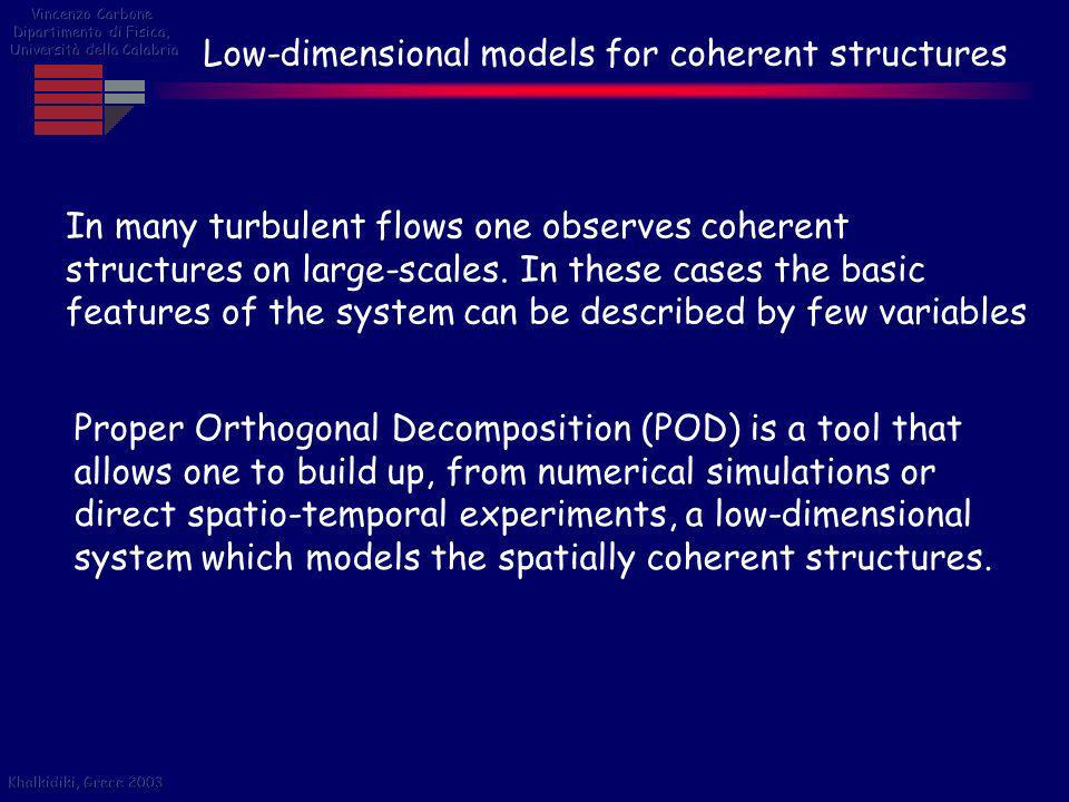 Low-dimensional models for coherent structures