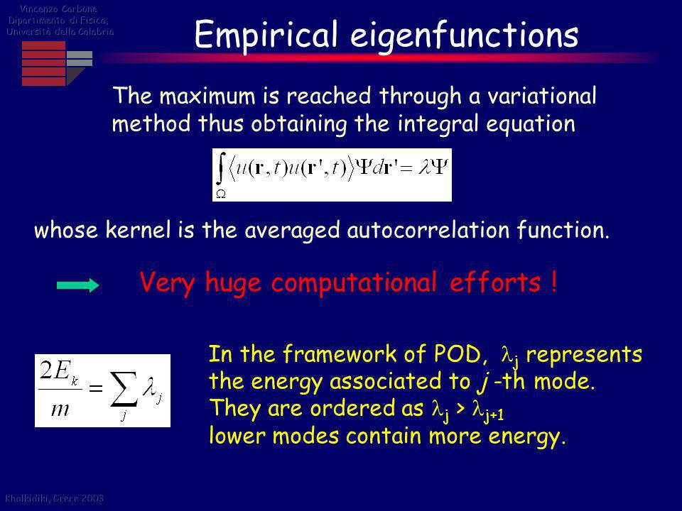 Empirical eigenfunctions