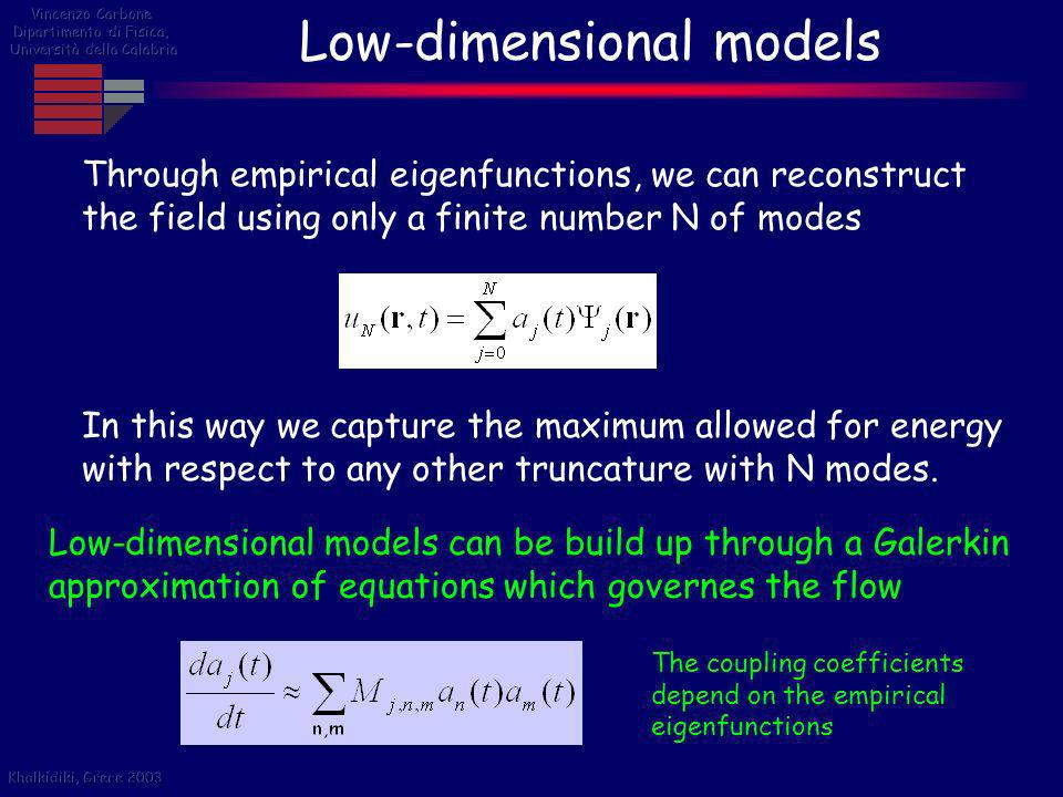 Low-dimensional models