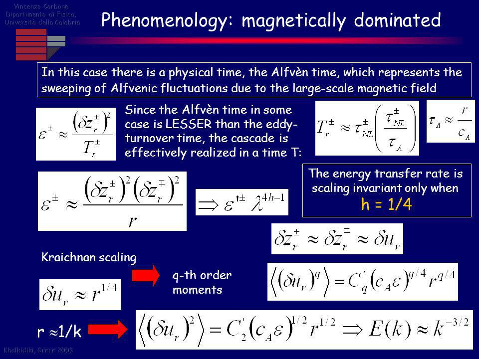 Phenomenology: magnetically dominated