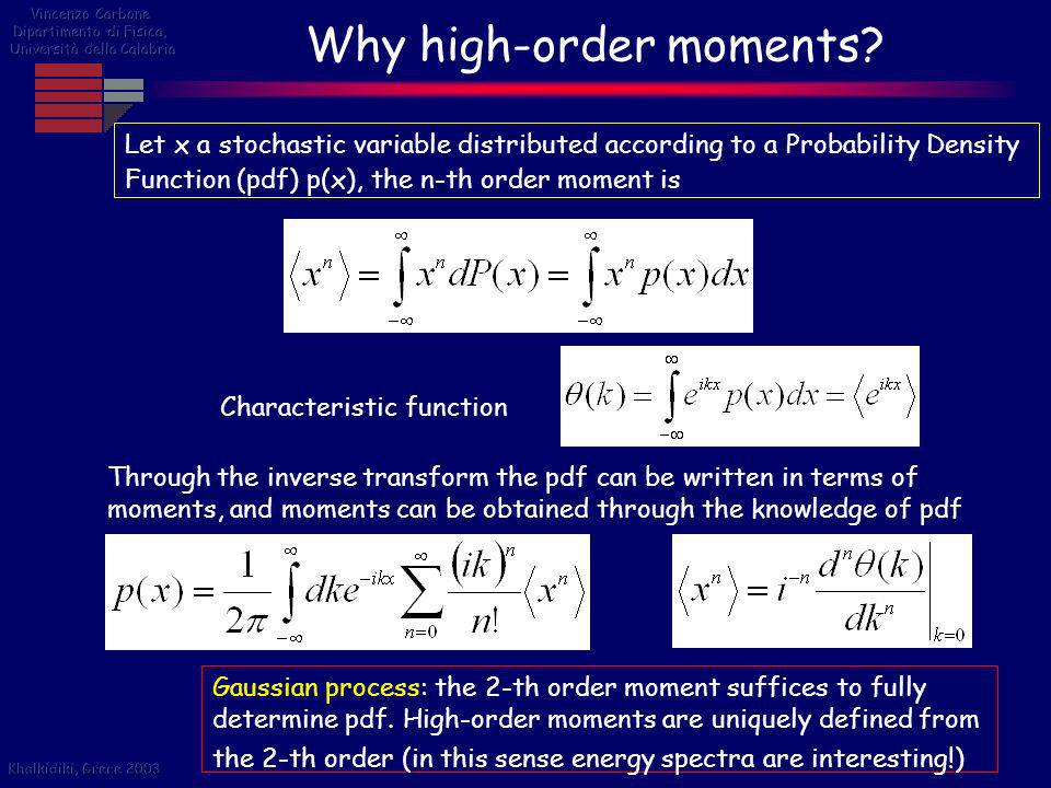 Why high-order moments