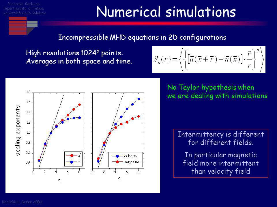Numerical simulations