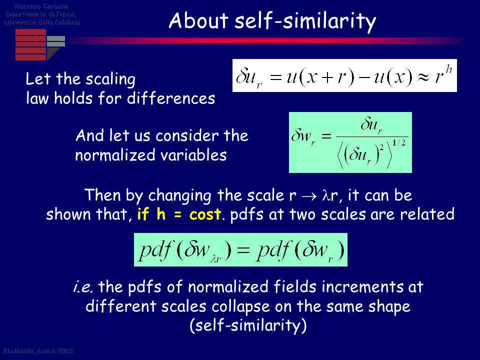About self-similarity