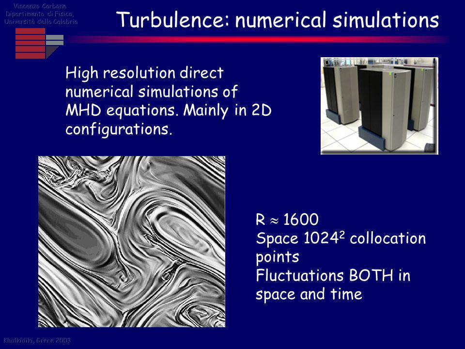 Turbulence: numerical simulations