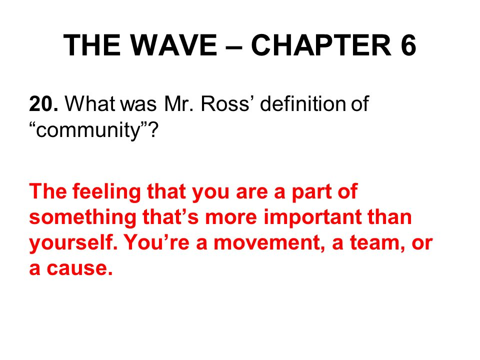 the wave mr ross