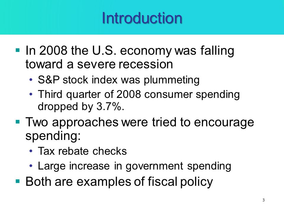 Introduction In 2008 The US Economy Was Falling Toward A Severe Recession SP Stock Index