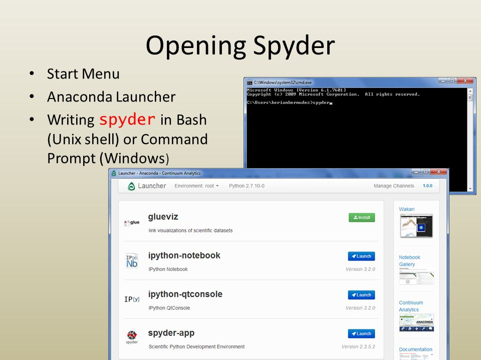 Exploring Spyder: An IDE for scientific computing - ppt