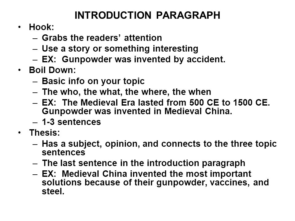 introduction paragraph ppt download