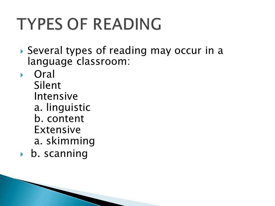 Four Types of Reading in English | HubPages