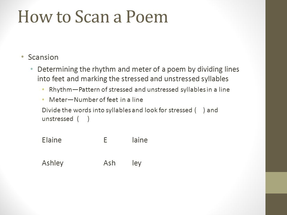 Meter, Scansion, and Rhythm - ppt video online download