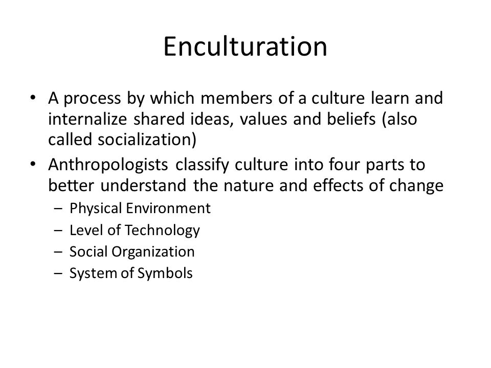 enculturation definition anthropology
