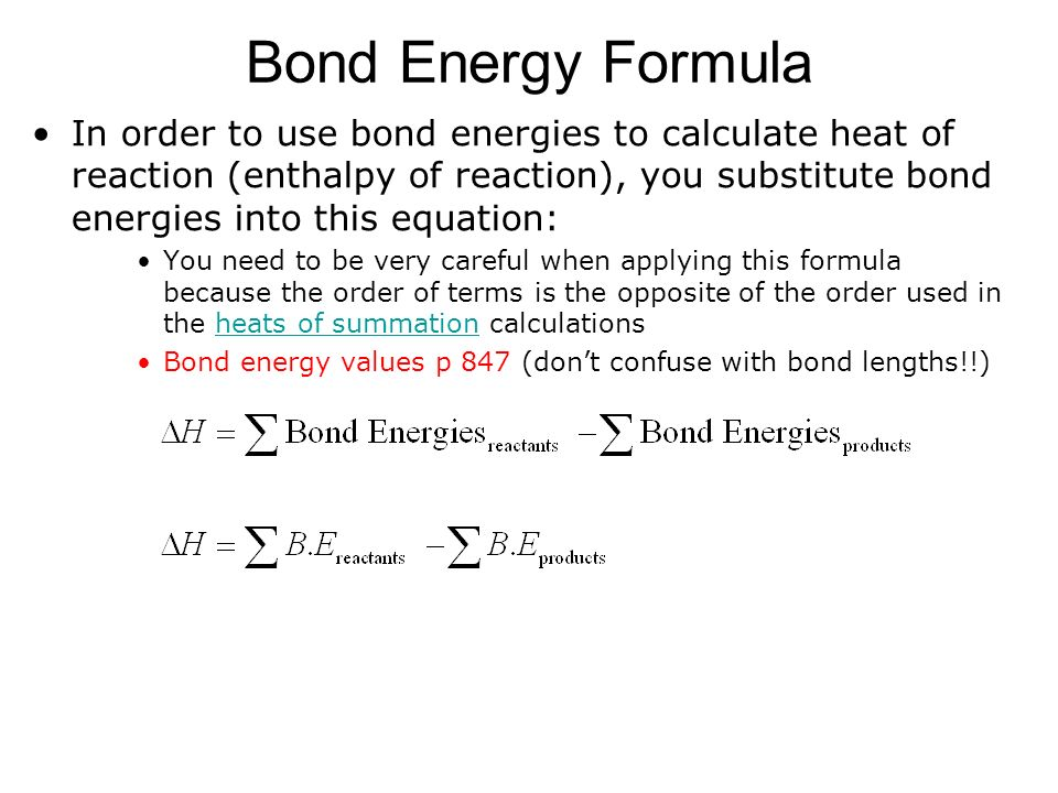 U3 S3 L4 Bond Energies Pages Using Bond Energies Ppt Download