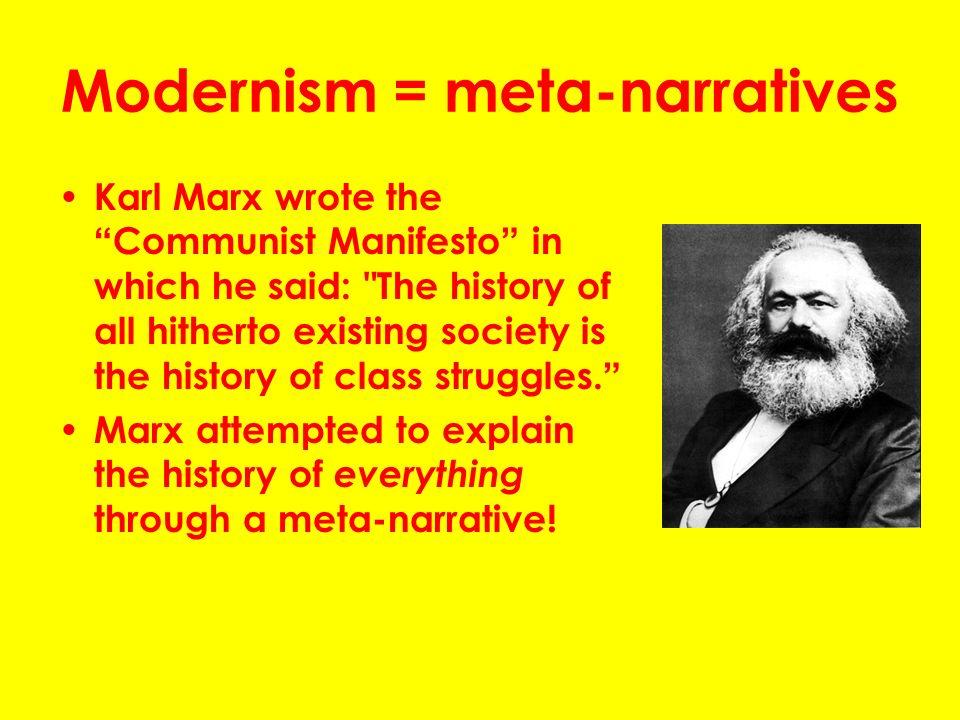 karl marx modernism