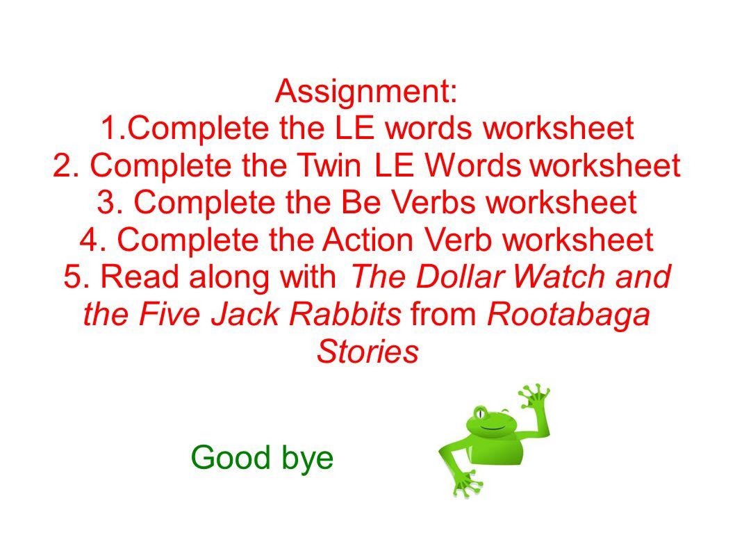 Lesson 15 level 3 language arts doubling le endings verbs ppt complete the le words worksheet ibookread ePUb