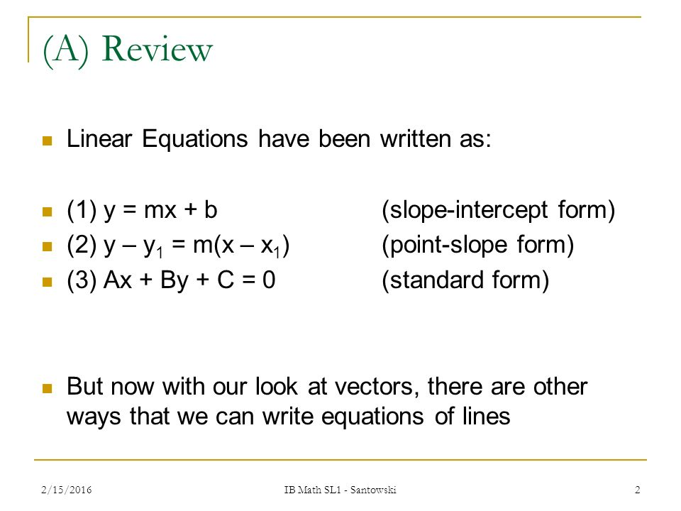 T53 Vector Parametric Equations Of Lines Ppt Video Online